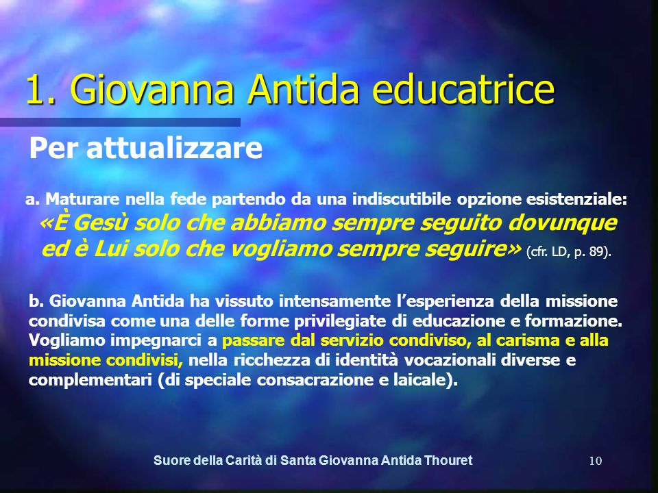 1. Giovanna Antida educatrice