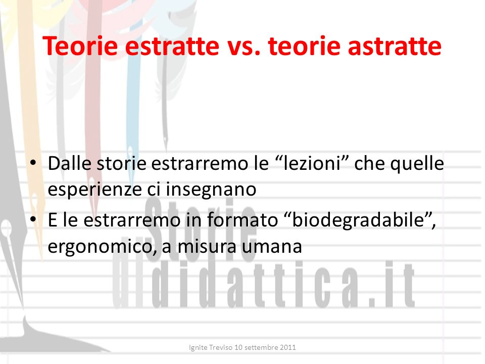 Teorie estratte vs. teorie astratte
