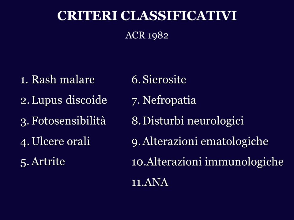 CRITERI CLASSIFICATIVI