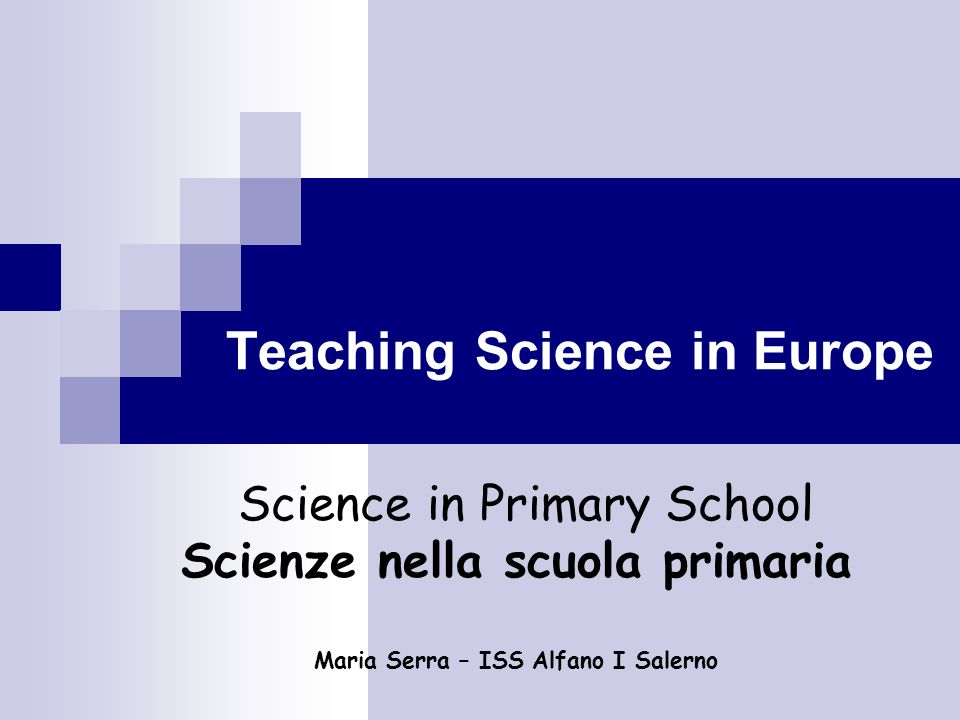 Teaching Science in Europe
