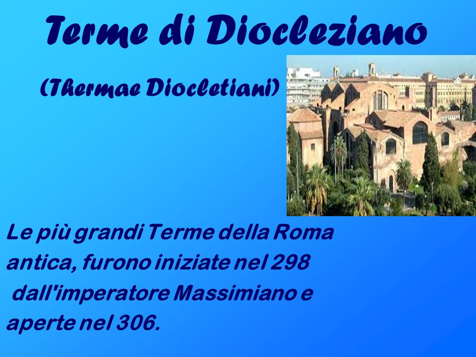 Terme di Diocleziano (Thermae Diocletiani)