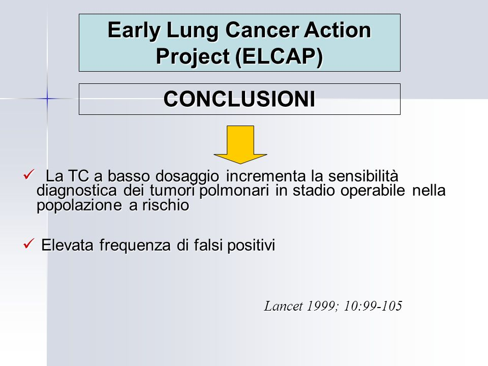 Early Lung Cancer Action Project (ELCAP)