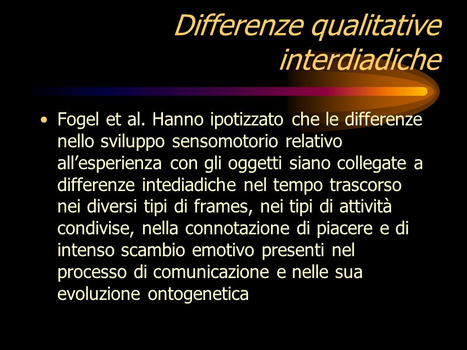 Differenze qualitative interdiadiche