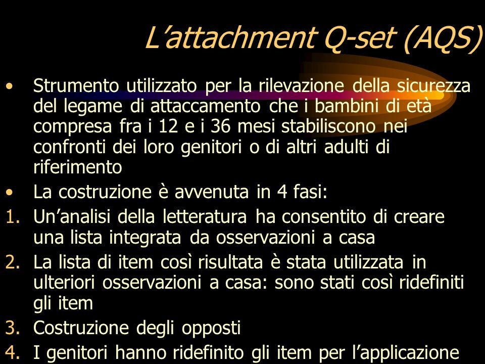 L'attachment Q-set (AQS)