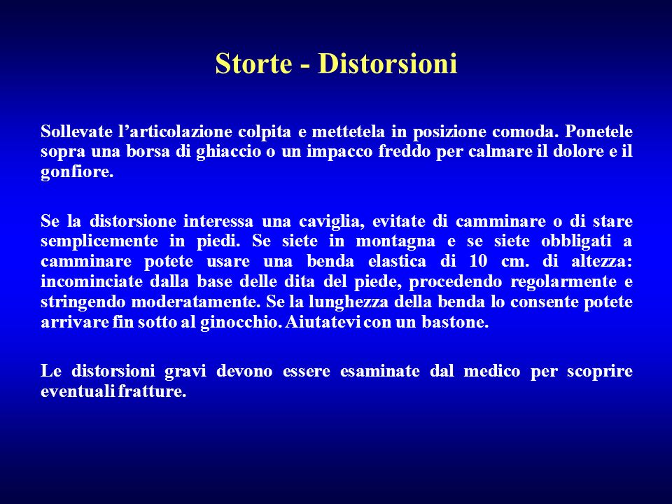 Storte - Distorsioni