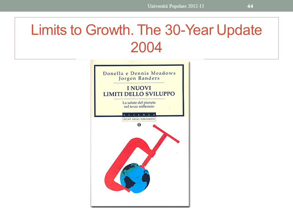 Limits to Growth. The 30-Year Update 2004