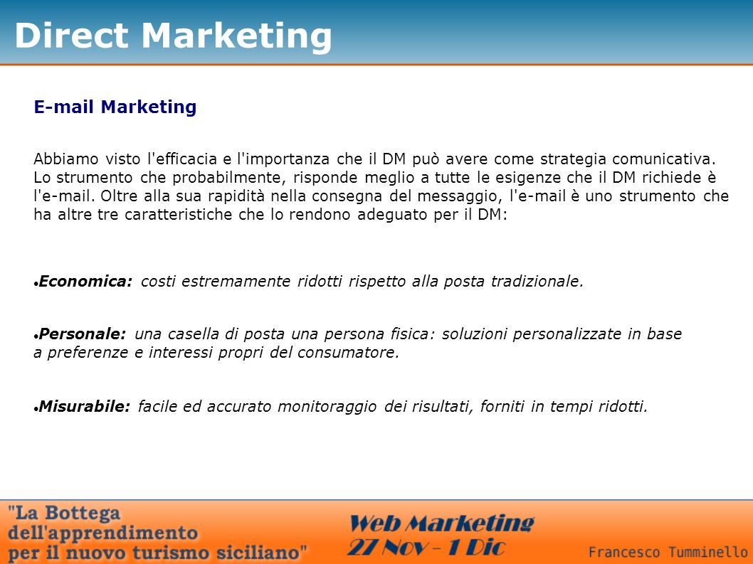 Direct Marketing  Marketing