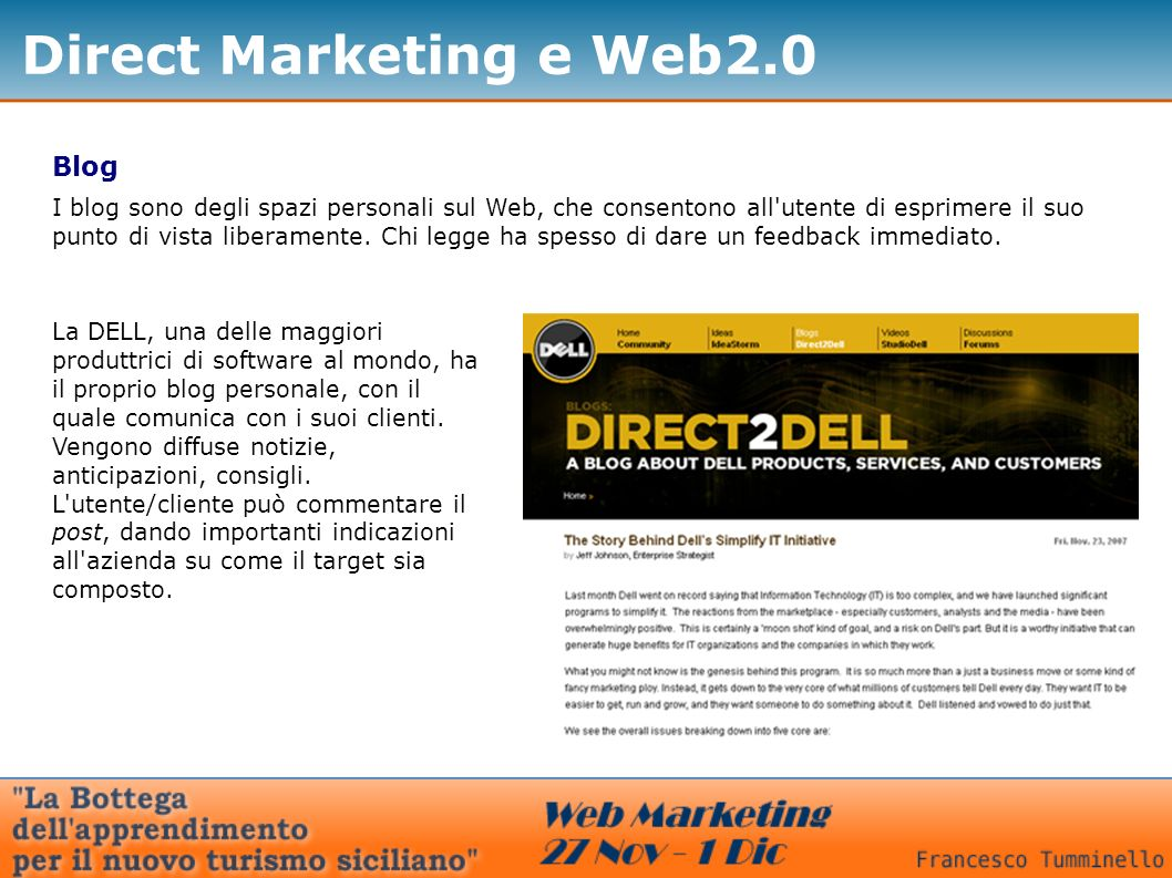 Direct Marketing e Web2.0 Blog