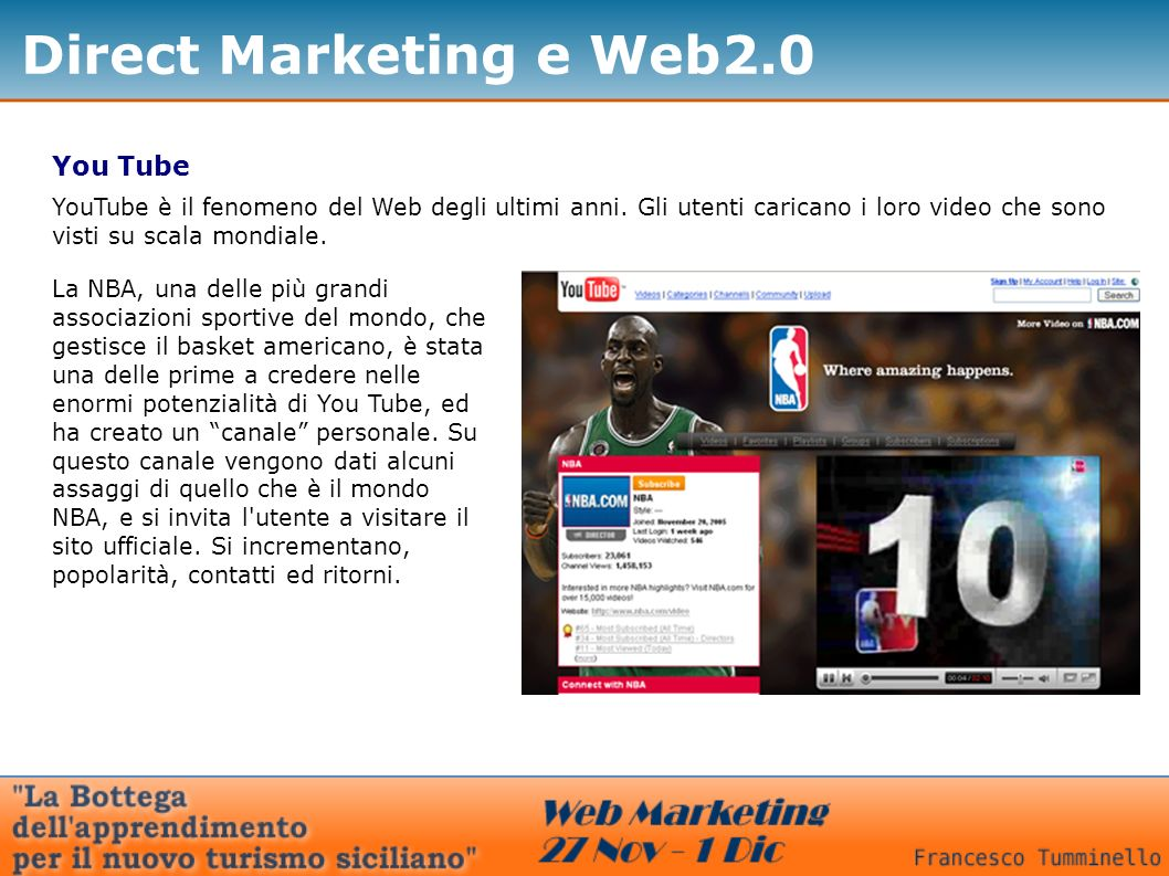 Direct Marketing e Web2.0 You Tube