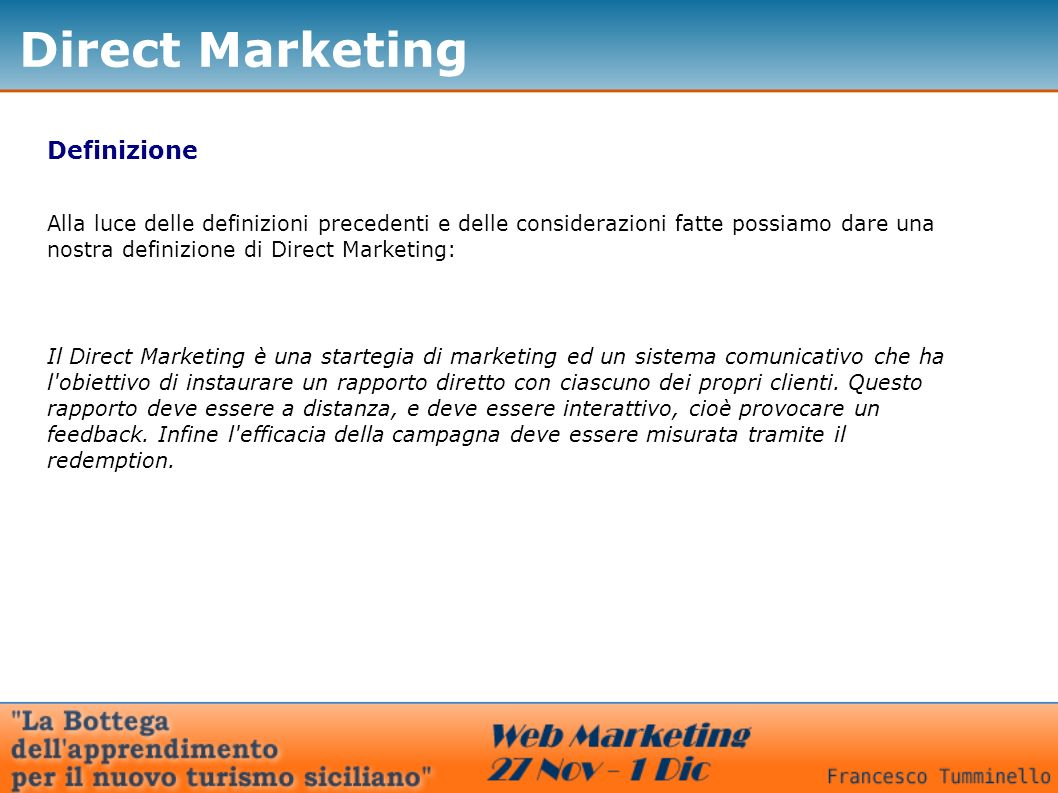 Direct Marketing Definizione