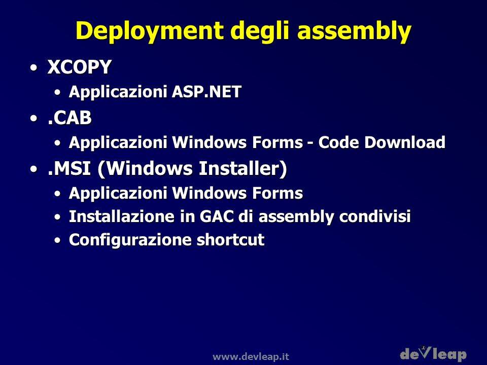 Deployment degli assembly