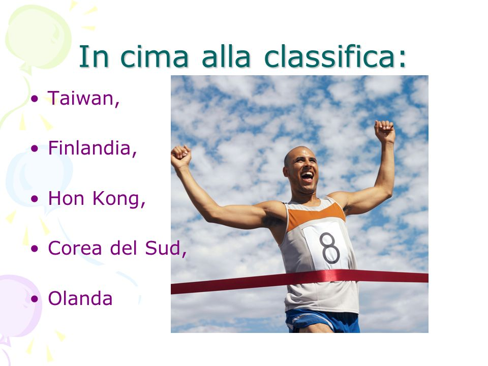 In cima alla classifica: