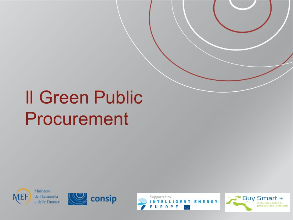 Il Green Public Procurement