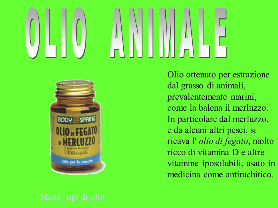 OLIO ANIMALE