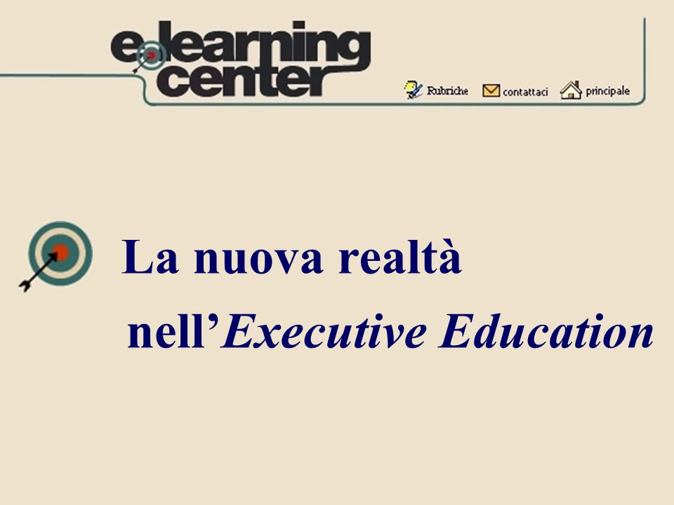 La nuova realtà nell'Executive Education