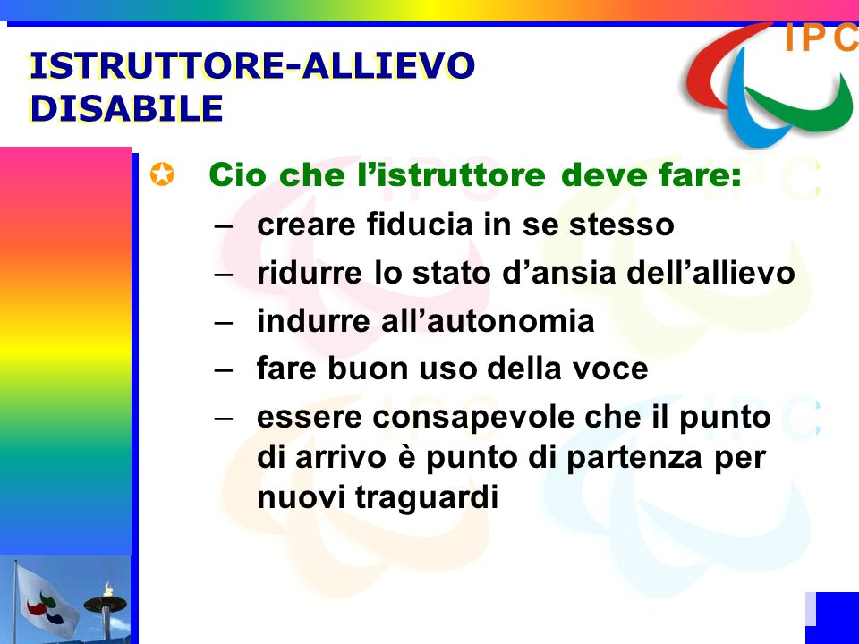 ISTRUTTORE-ALLIEVO DISABILE