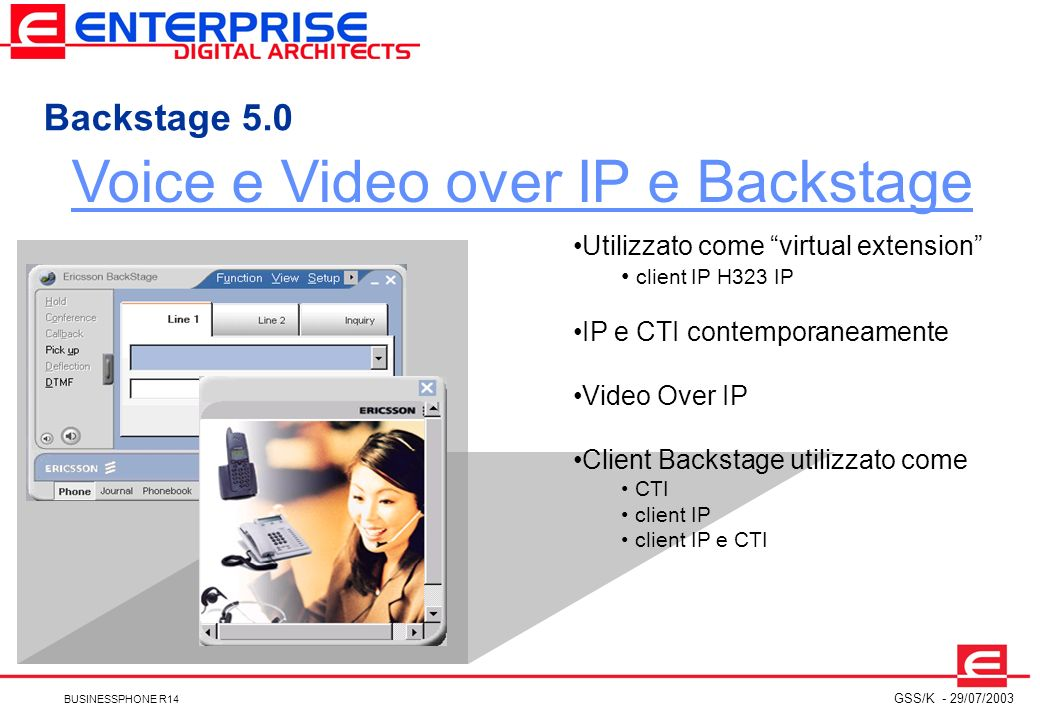 Voice e Video over IP e Backstage