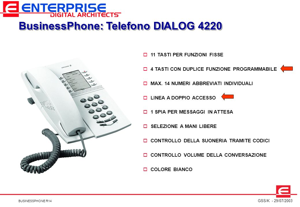 BusinessPhone: Telefono DIALOG 4220