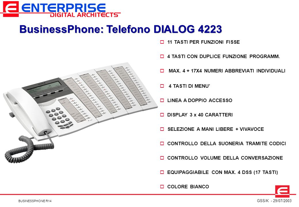 BusinessPhone: Telefono DIALOG 4223