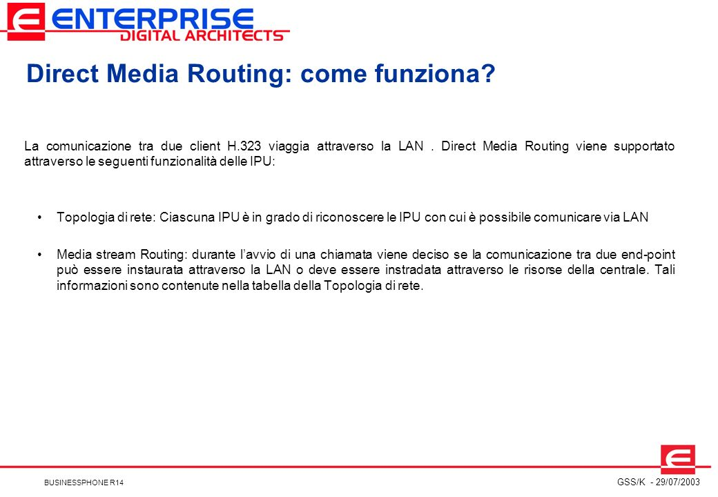 Direct Media Routing: come funziona