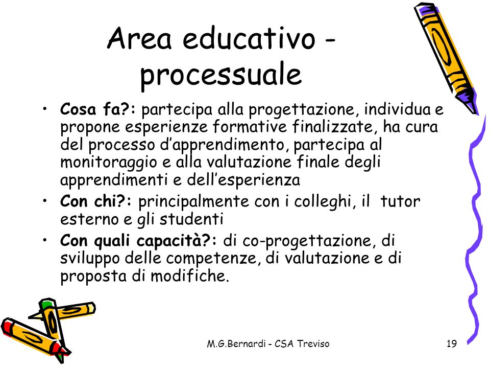 Area educativo -processuale