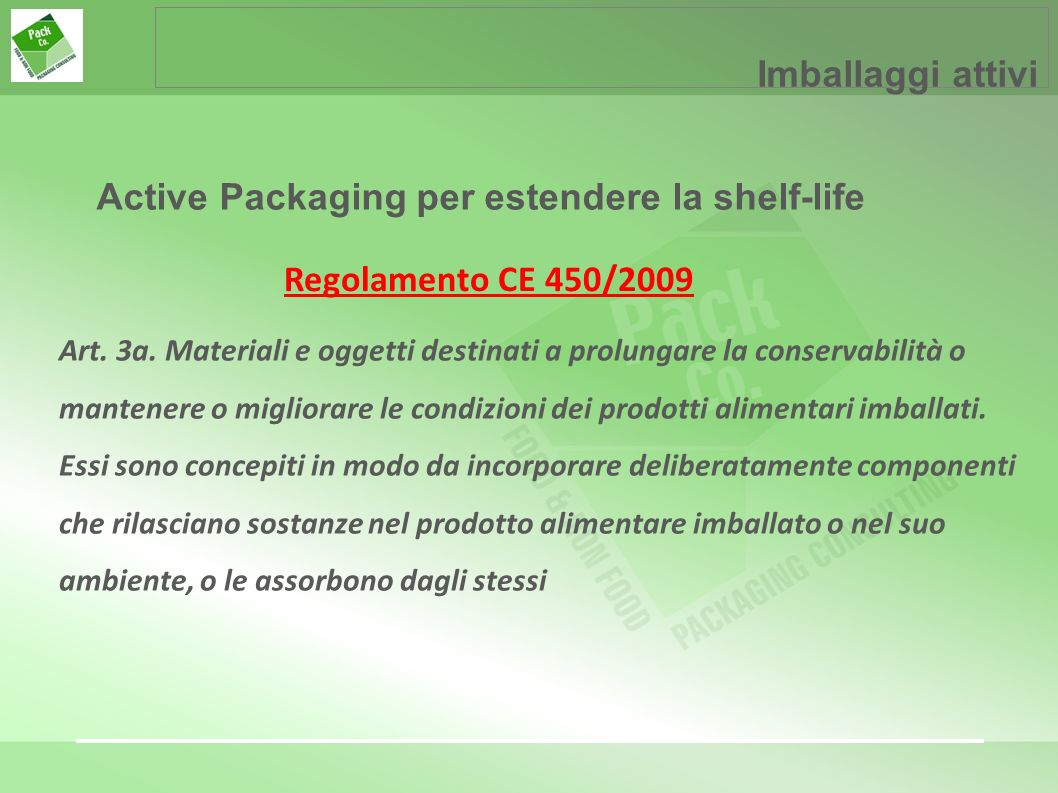 Active Packaging per estendere la shelf-life