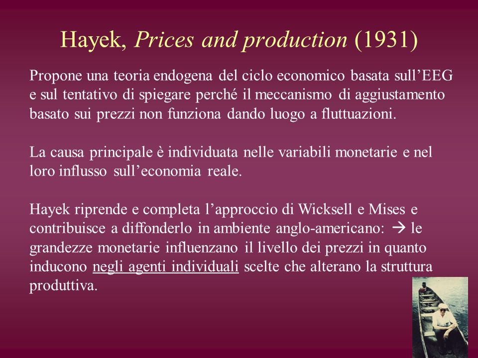 Hayek, Prices and production (1931)