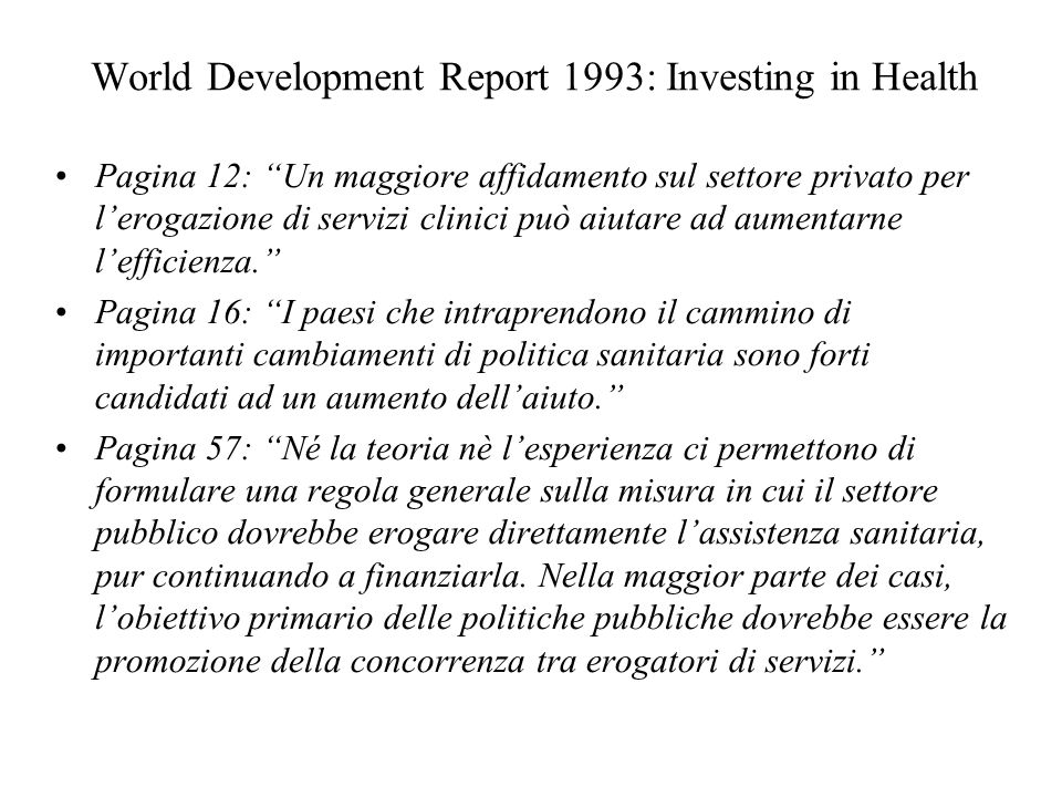 World Development Report 1993: Investing in Health