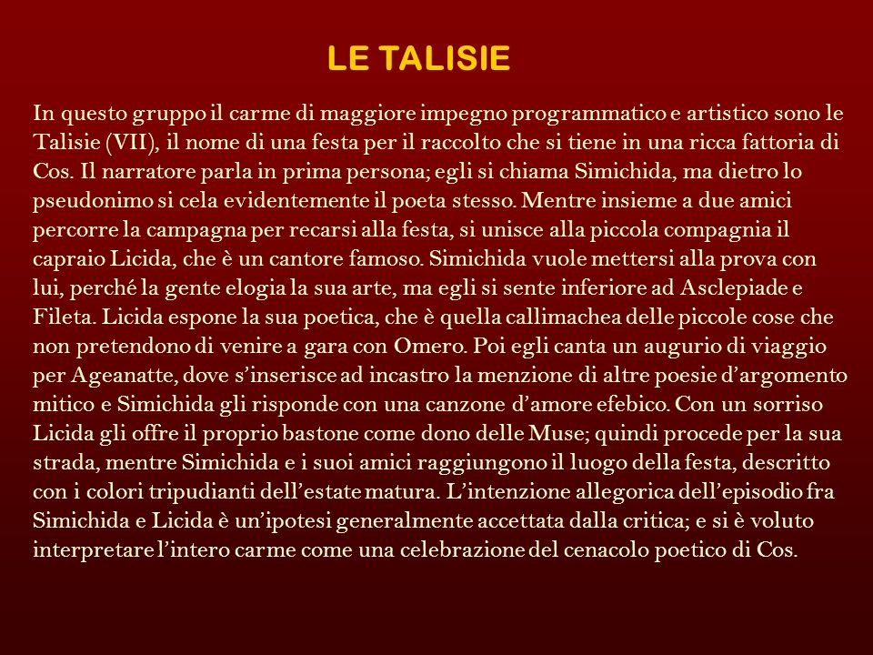 LE TALISIE