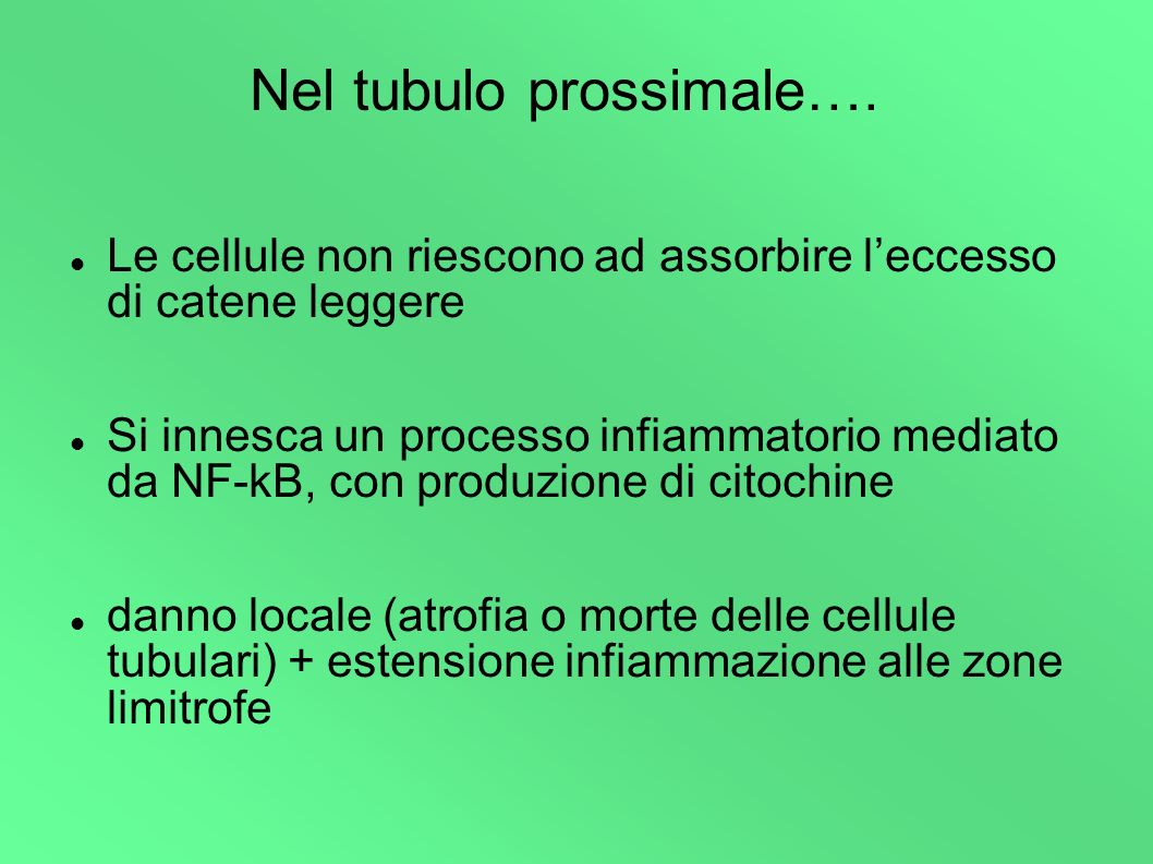 Nel tubulo prossimale….