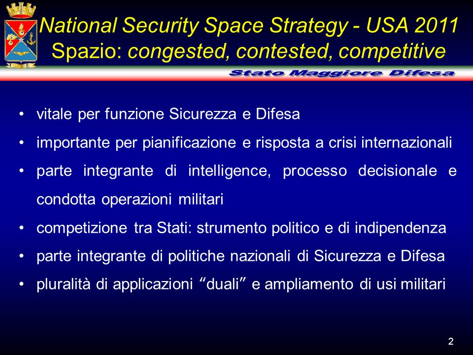 National Security Space Strategy - USA 2011