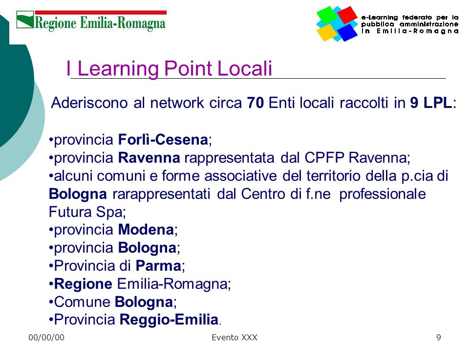 I Learning Point Locali