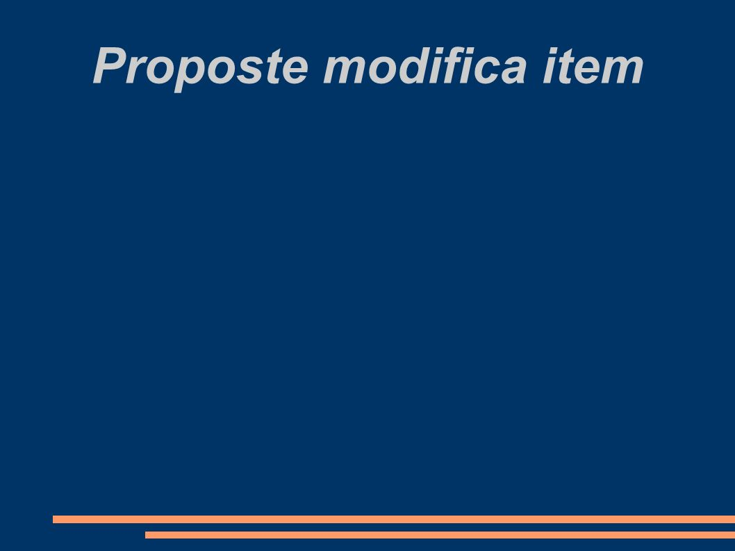 Proposte modifica item