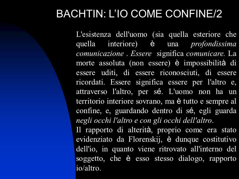 BACHTIN: L'IO COME CONFINE/2