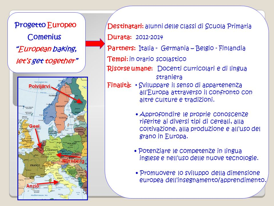 Progetto Europeo Comenius European baking, let's get together