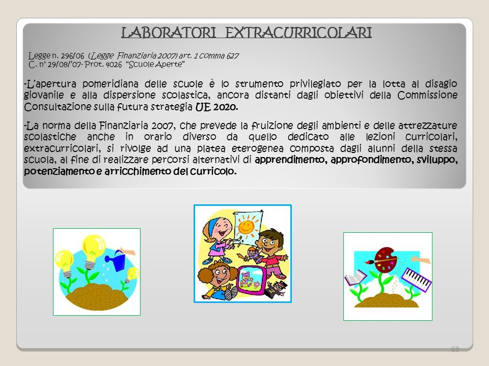 LABORATORI EXTRACURRICOLARI