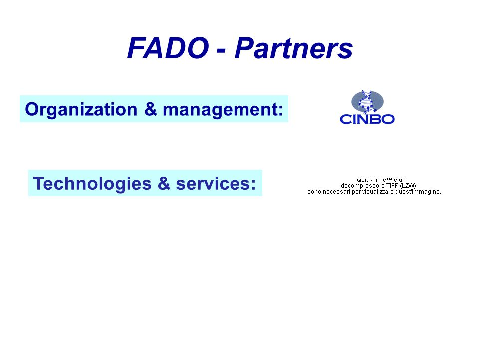 Technologies & services: