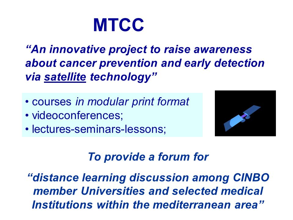 MTCC An innovative project to raise awareness