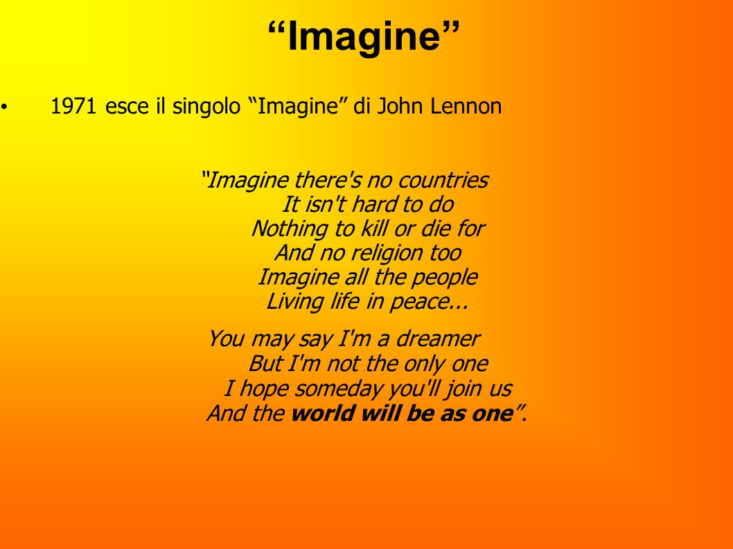 Imagine 1971 esce il singolo Imagine di John Lennon