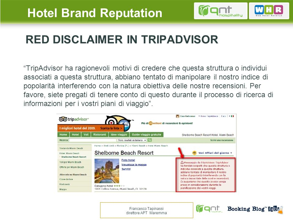 RED DISCLAIMER IN TRIPADVISOR