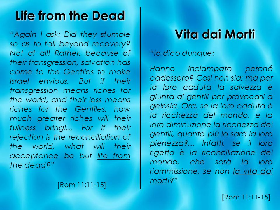 Life from the Dead Vita dai Morti