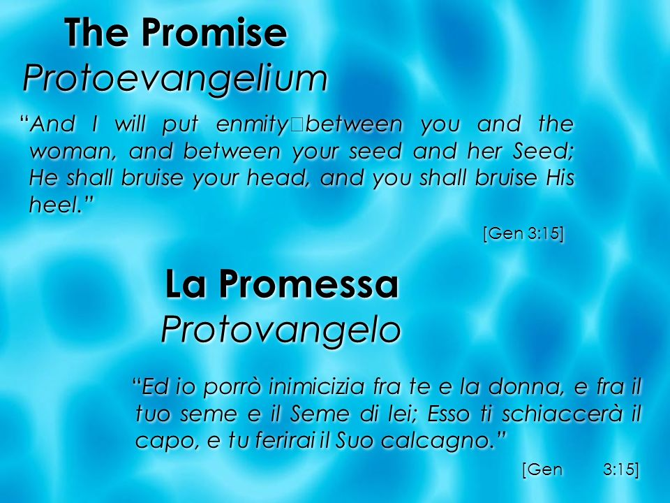 The Promise Protoevangelium