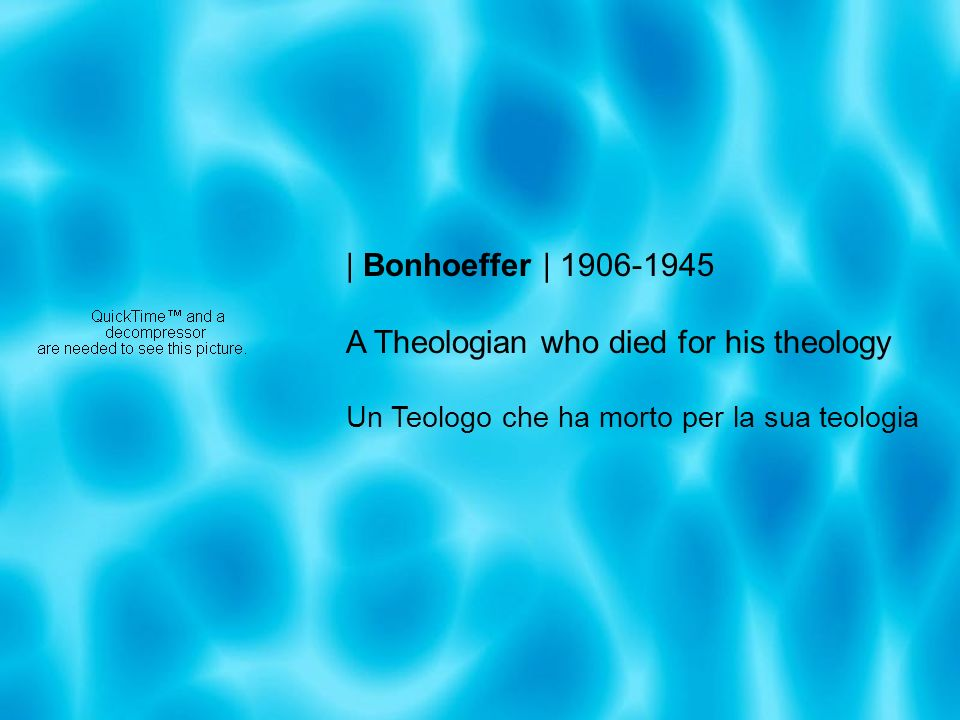A Theologian who died for his theology