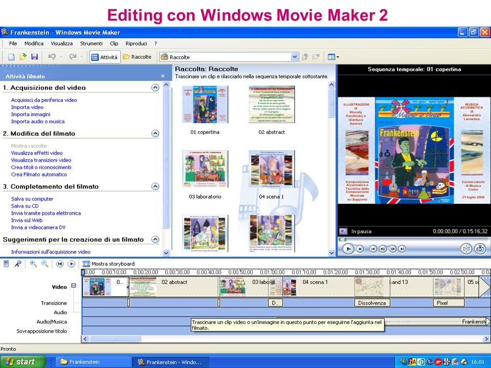 Editing con Windows Movie Maker 2