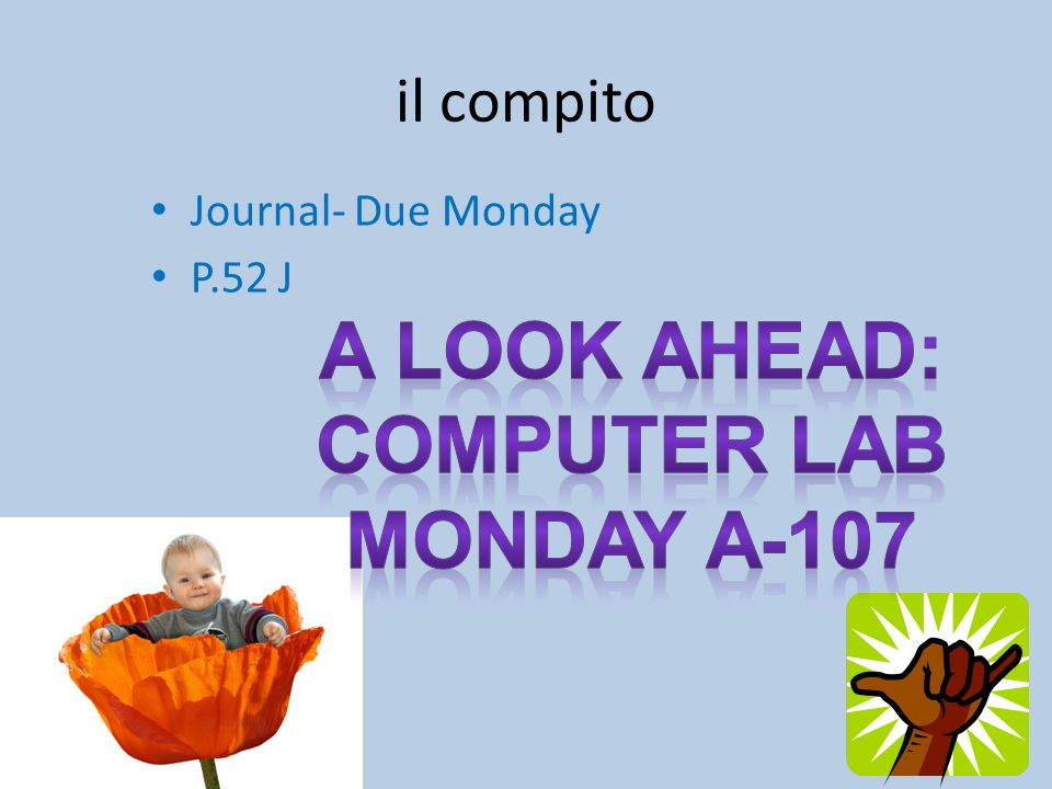 A look ahead: Computer lab Monday A-107