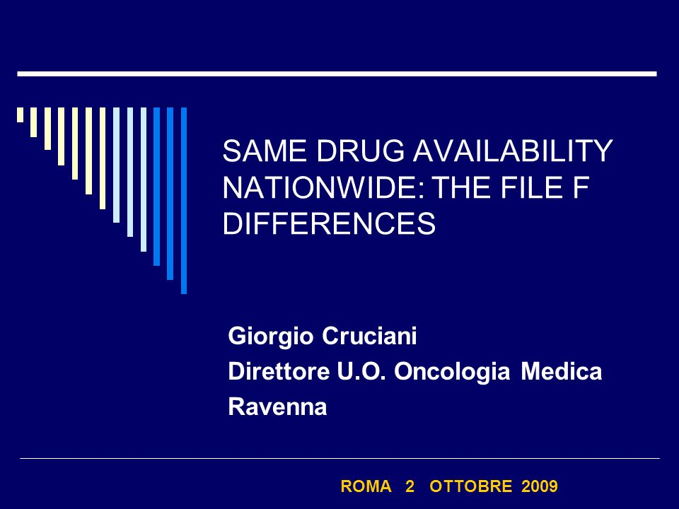 SAME DRUG AVAILABILITY NATIONWIDE: THE FILE F DIFFERENCES