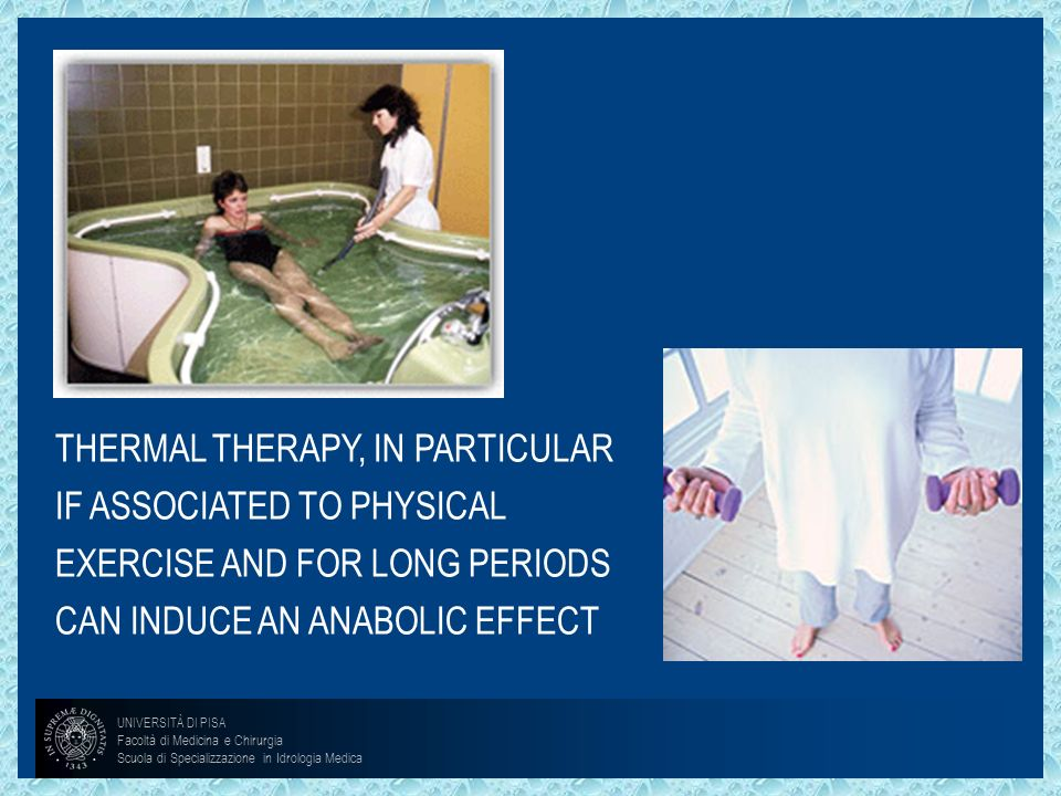 THERMAL THERAPY, IN PARTICULAR IF ASSOCIATED TO PHYSICAL EXERCISE AND FOR LONG PERIODS CAN INDUCE AN ANABOLIC EFFECT