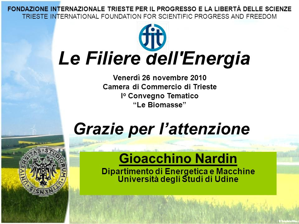 Le Filiere dell Energia