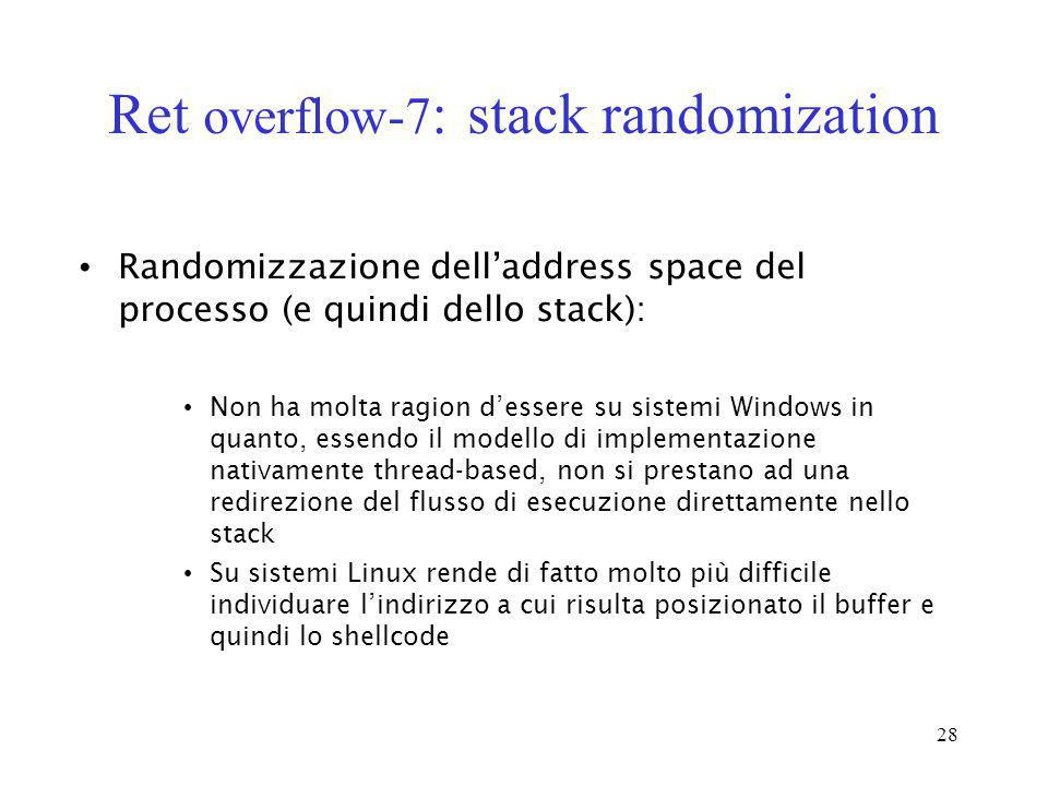 Ret overflow-7: stack randomization