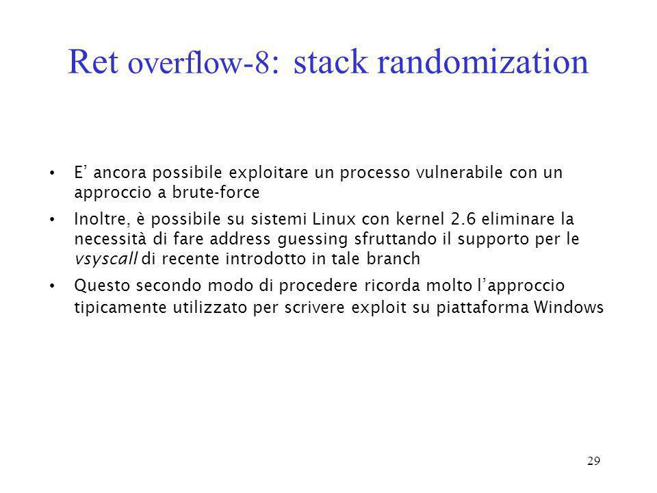 Ret overflow-8: stack randomization